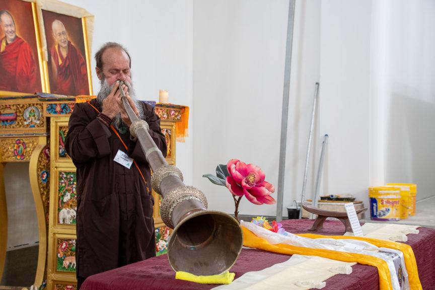 Tibetan long trumpet