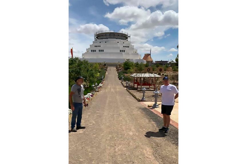 Approaching the Stupa
