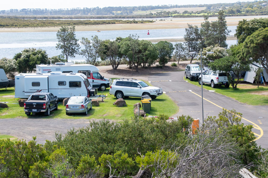 Riverview CP (with our van)